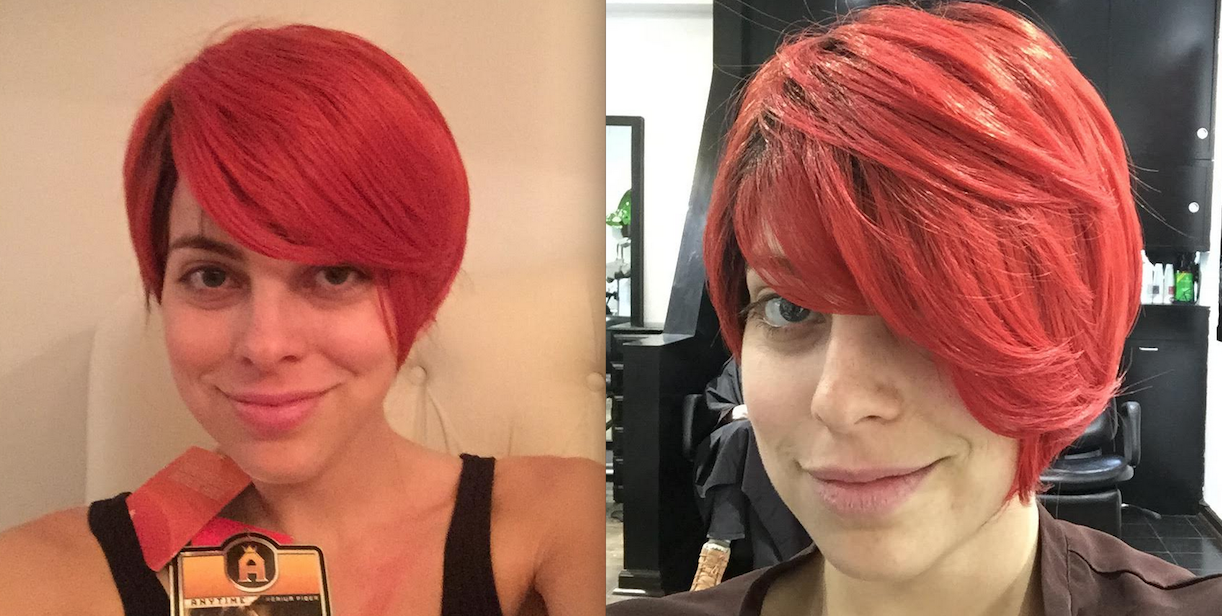 before after red 2